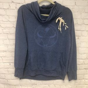 Well Worn LA Cowl Neck Pullover Sweater Sz M Gray